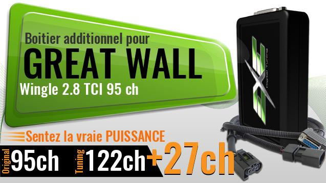 Boitier additionnel Great Wall Wingle 2.8 TCI 95 ch
