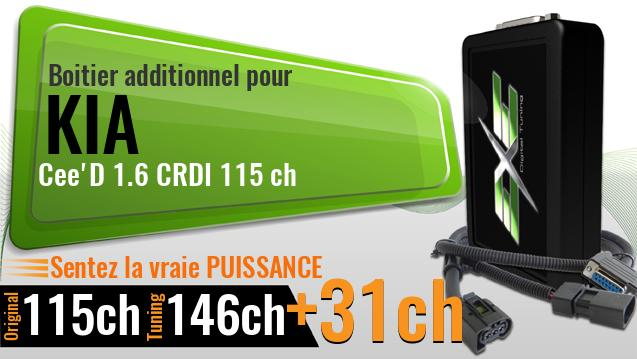 Boitier additionnel Kia Cee'D 1.6 CRDI 115 ch