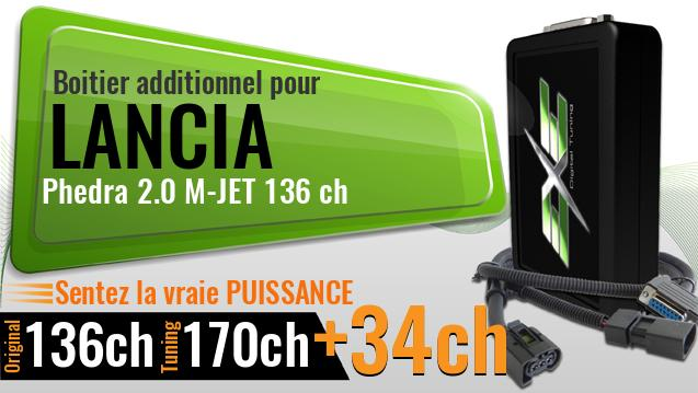 Boitier additionnel Lancia Phedra 2.0 M-JET 136 ch