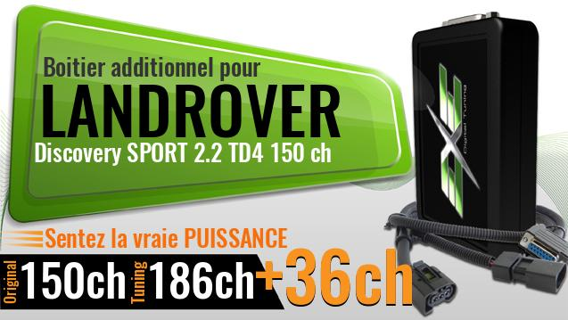 Boitier additionnel Landrover Discovery SPORT 2.2 TD4 150 ch