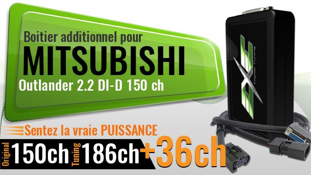 Boitier additionnel Mitsubishi Outlander 2.2 DI-D 150 ch