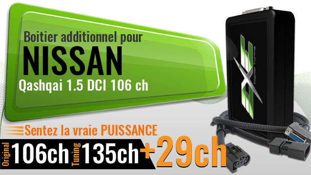Boitier additionnel Nissan Qashqai 1.5 DCI 106 ch