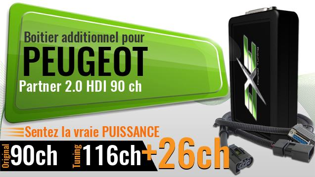 Boitier additionnel Peugeot Partner 2.0 HDI 90 ch