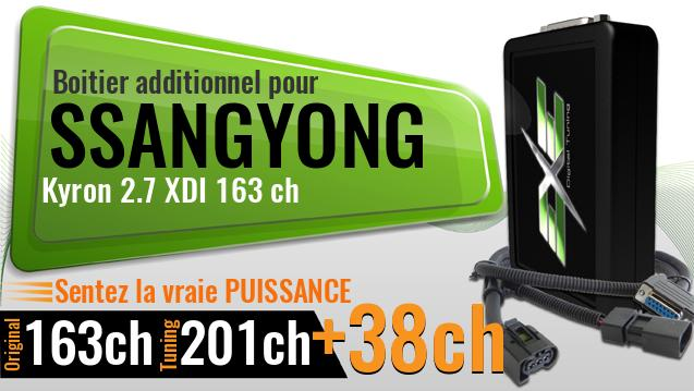 Boitier additionnel Ssangyong Kyron 2.7 XDI 163 ch