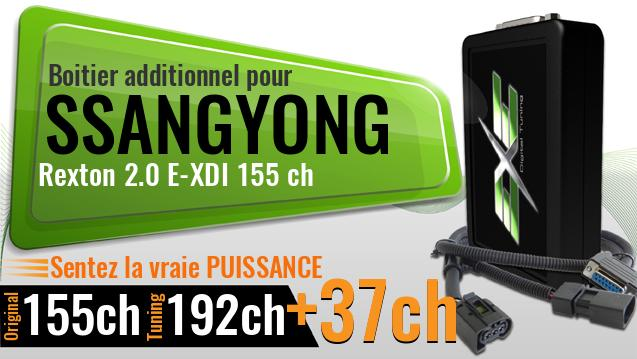 Boitier additionnel Ssangyong Rexton 2.0 E-XDI 155 ch