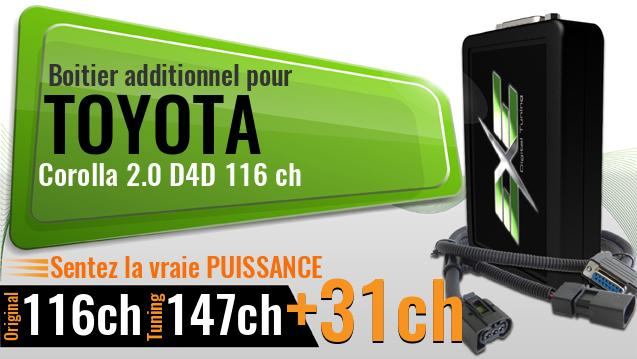 Boitier additionnel Toyota Corolla 2.0 D4D 116 ch