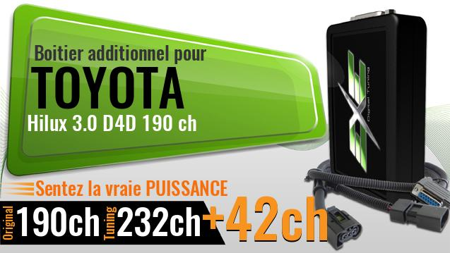 Boitier additionnel Toyota Hilux 3.0 D4D 190 ch