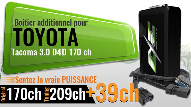 Boitier additionnel Toyota Tacoma 3.0 D4D 170 ch