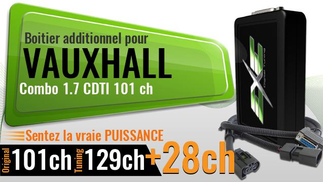 Boitier additionnel Vauxhall Combo 1.7 CDTI 101 ch