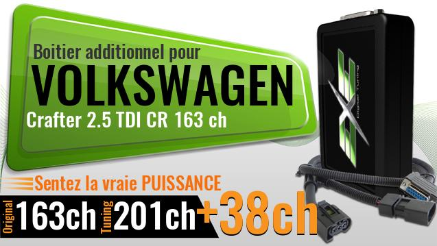 Boitier additionnel Volkswagen Crafter 2.5 TDI CR 163 ch